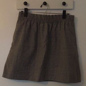 J Crew Gray Wool Mini Skirt - Size 6